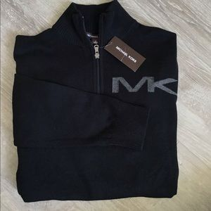 NWT Cotton half-zip Michael Kors pullover Sweater